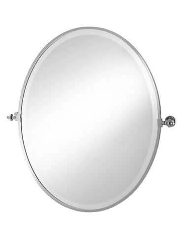 Oval Framed Tilt Mirror 2-116 Cut Out