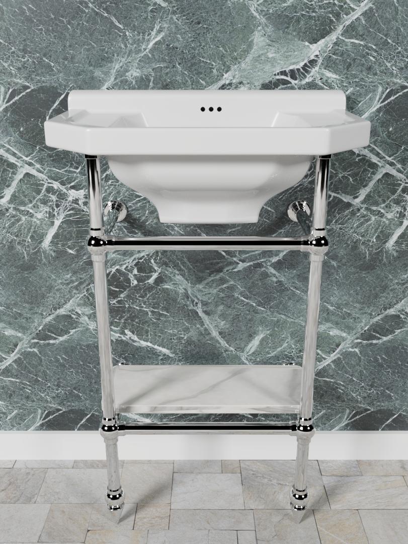 Fairfax 2 Leg Small Cloakroom Basin Stand Opus Bathrooms