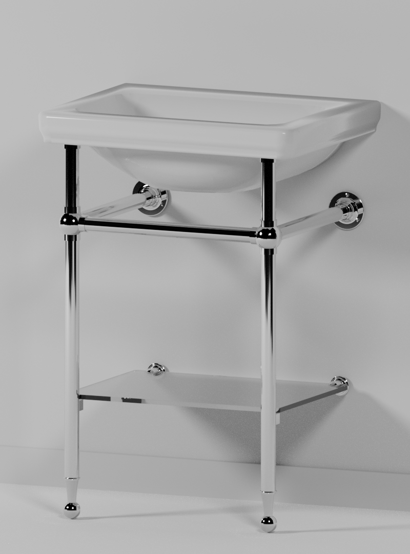 Fairfax 2 Leg Small Cloakroom Basin Stand Opus Bathrooms