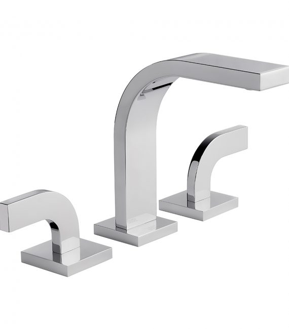 FV201:J4. Widespread lavatory faucet with pop-up drain assembly 3