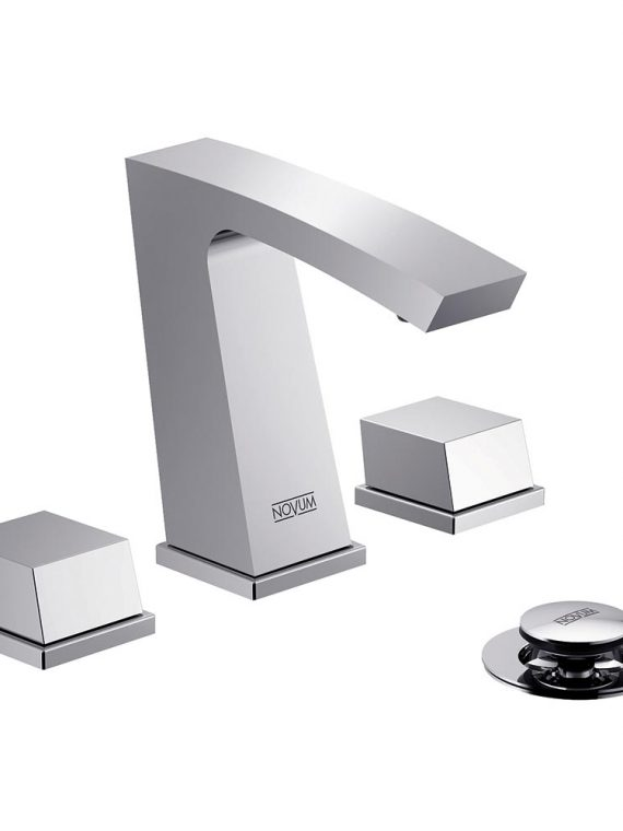 FV207:J8. Widespread lavatory faucet with push-down pop-up drain assembly (no lift rod) 2