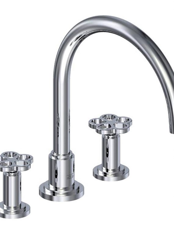 "FV210:J1. Deck mounted Roman bath faucet 3:4"" valves 1"