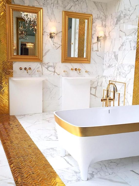 Gold-Mirror-Herringbone-Bath-Private-Residence